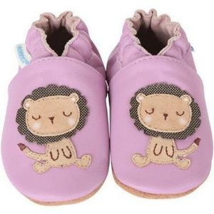 BNWT Robeez Lori the Lion Lavender Baby Moccasins